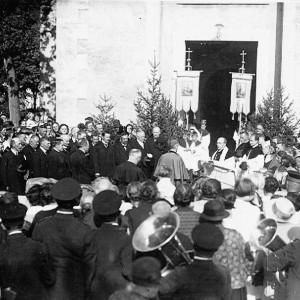 Nuntius Pacelli = später Papst Pius XII in Lenzkirch um 1932