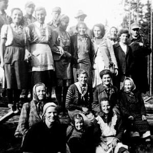 Raitenbucher Holzhaver und Tännle Maidli - 1952?