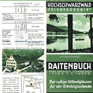 Raitenbucher Werbeflyer - 1930