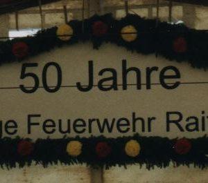 Schild 50J FFW Rait